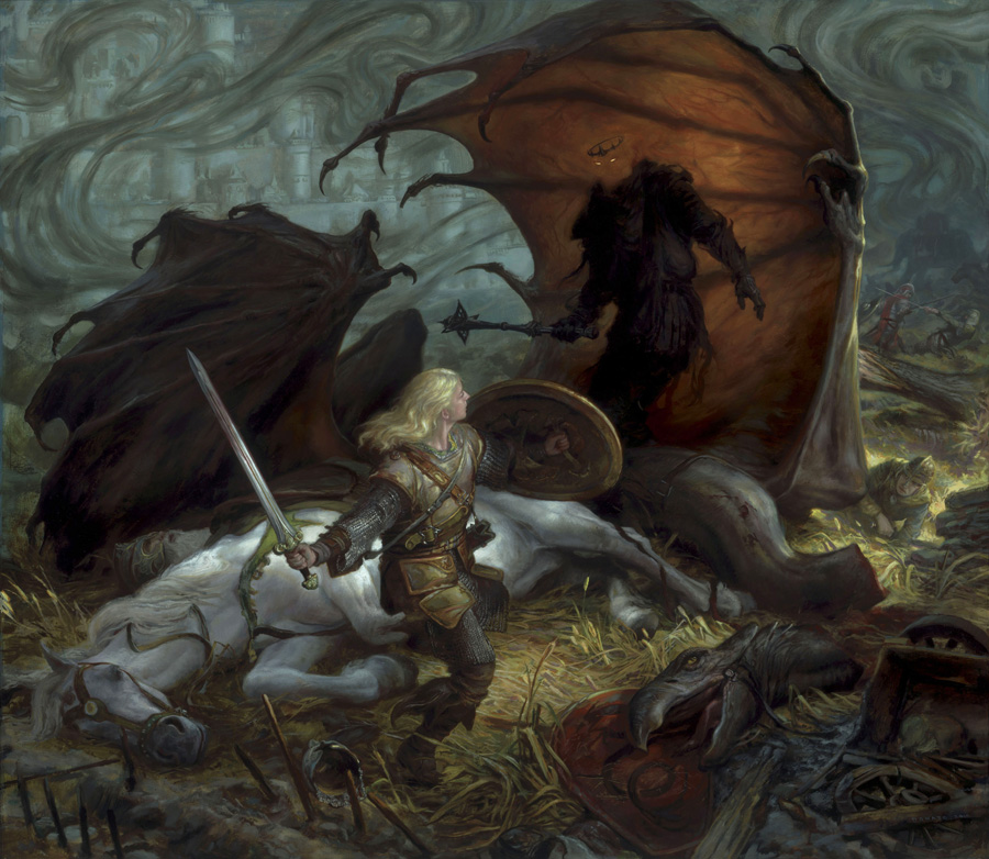 Éowyn and the Lord of the Nazgûl by Donato Giancola